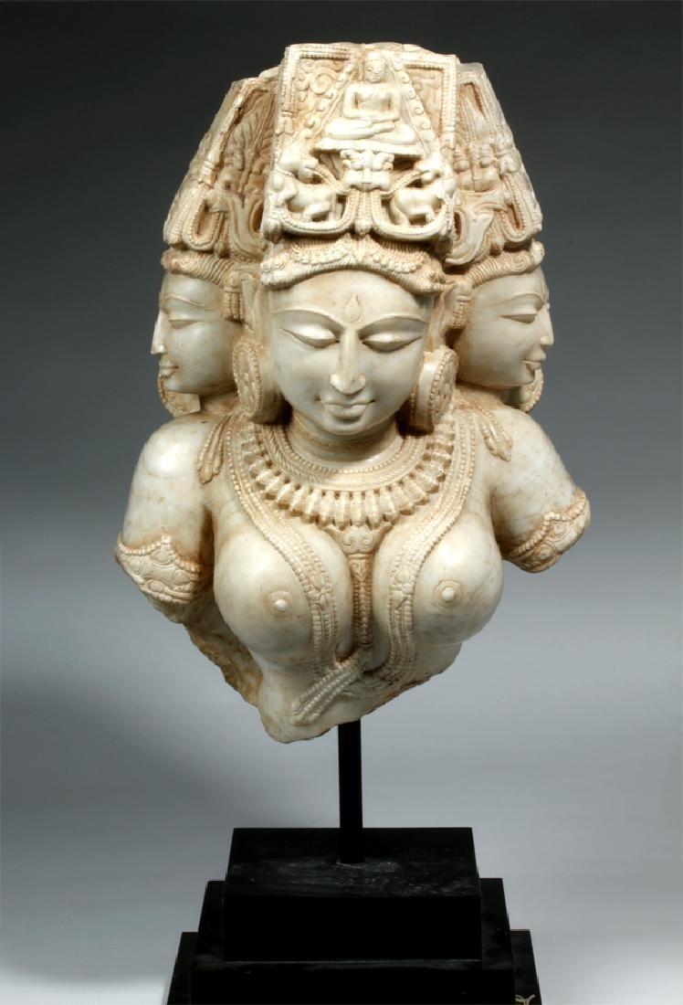 17th C Indian Marble Avalokitesvara Bodhisattva