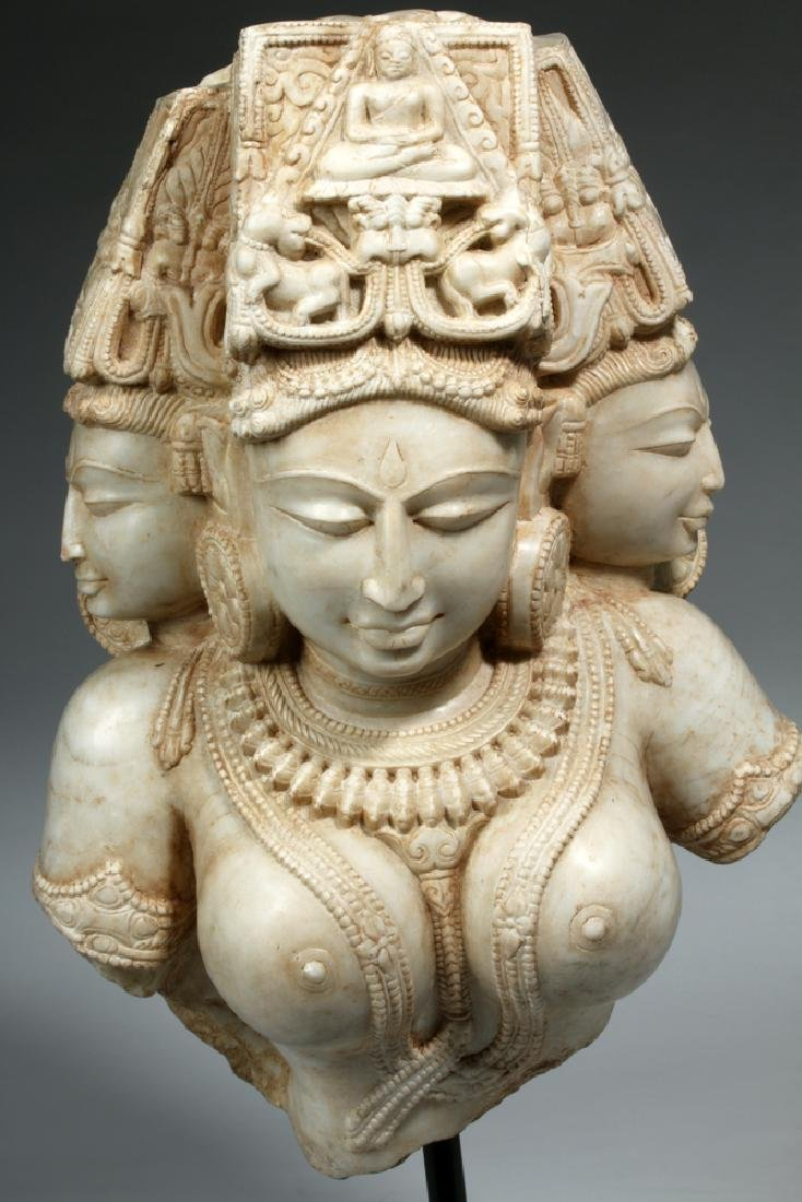 17th C Indian Marble Avalokitesvara Bodhisattva - 2