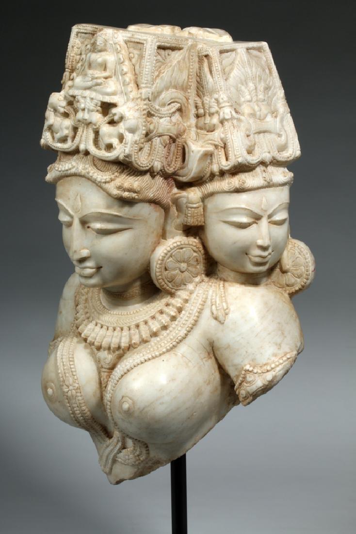 17th C Indian Marble Avalokitesvara Bodhisattva - 4