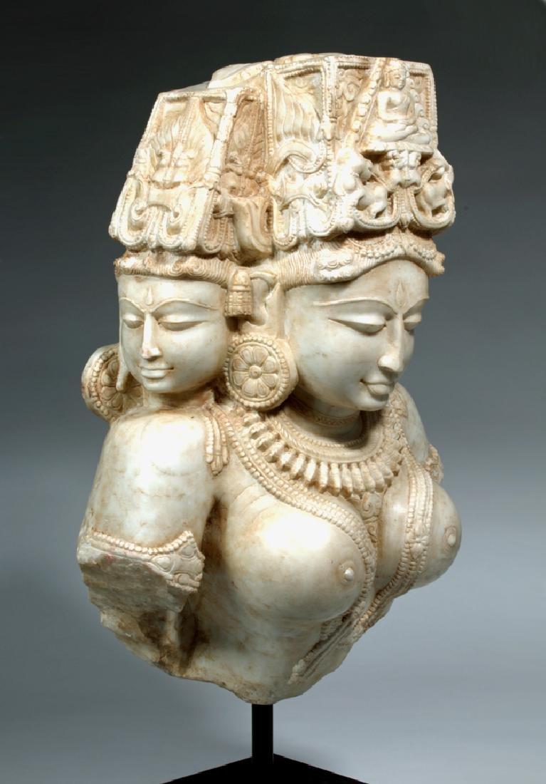 17th C Indian Marble Avalokitesvara Bodhisattva - 5