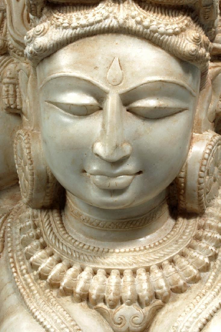 17th C Indian Marble Avalokitesvara Bodhisattva - 6