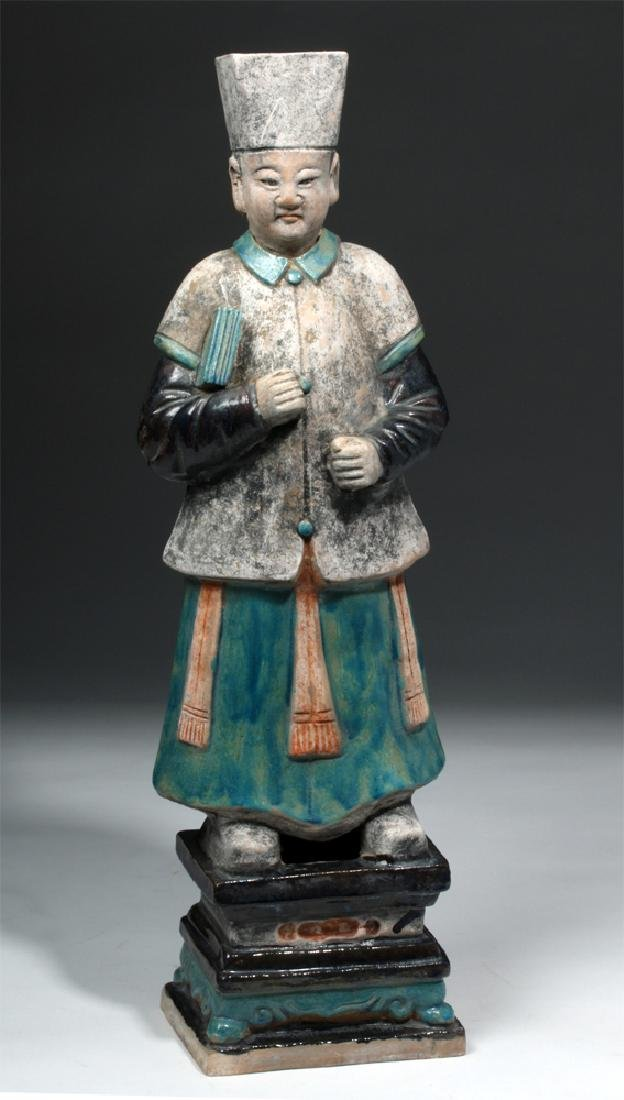 Large Chinese Ming Dynasty Scholar Figure