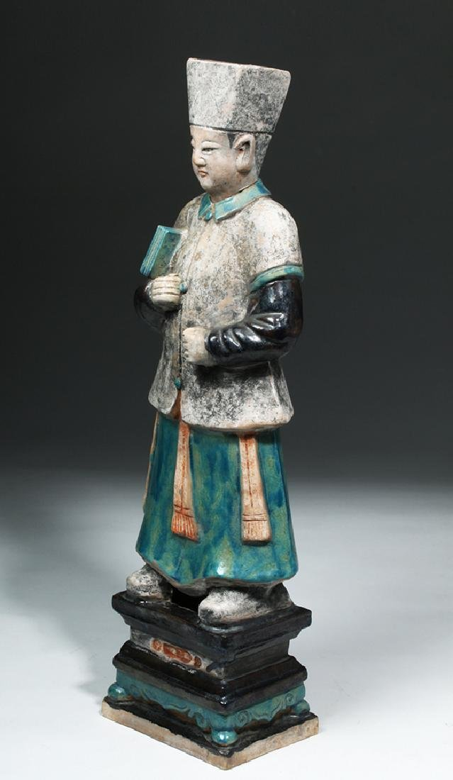 Large Chinese Ming Dynasty Scholar Figure - 2