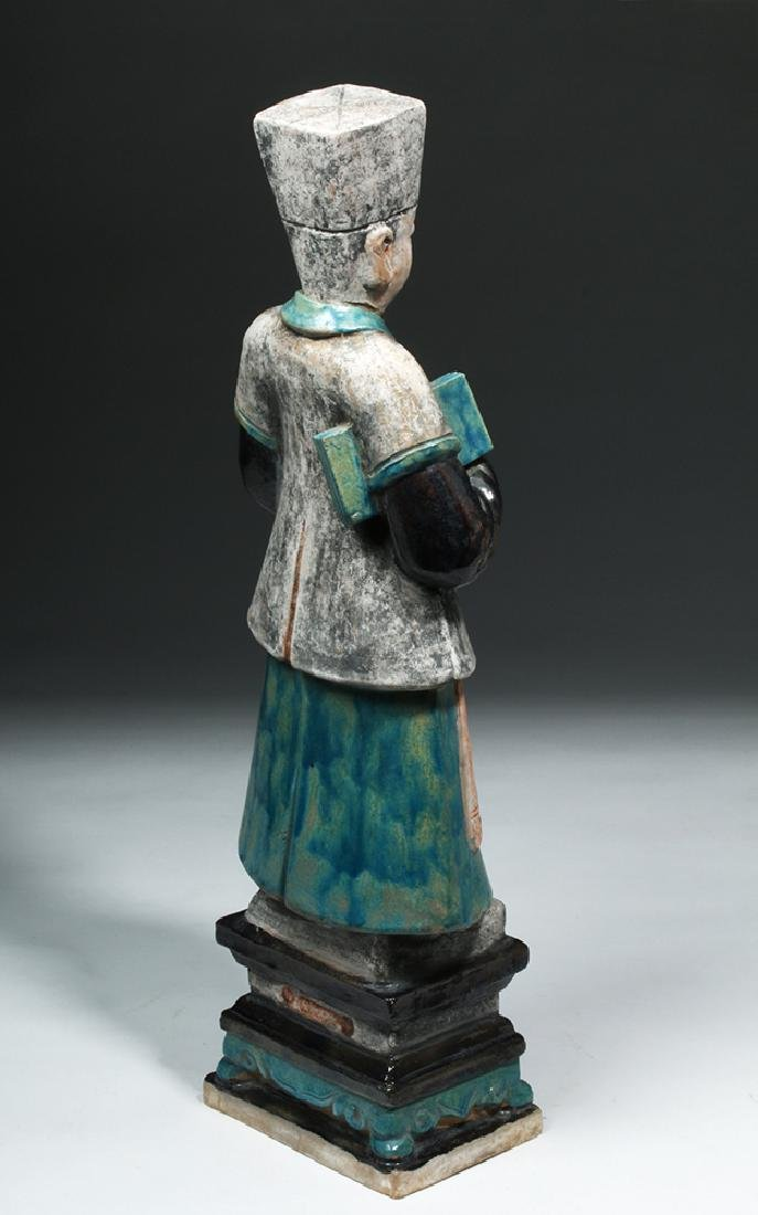 Large Chinese Ming Dynasty Scholar Figure - 4