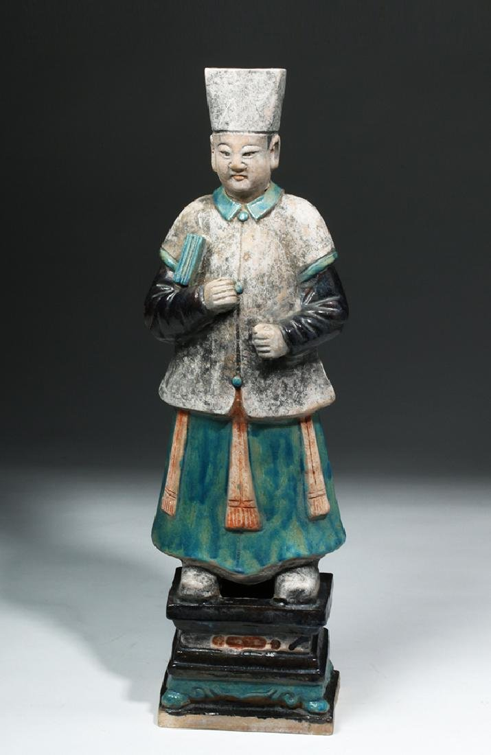 Large Chinese Ming Dynasty Scholar Figure - 5