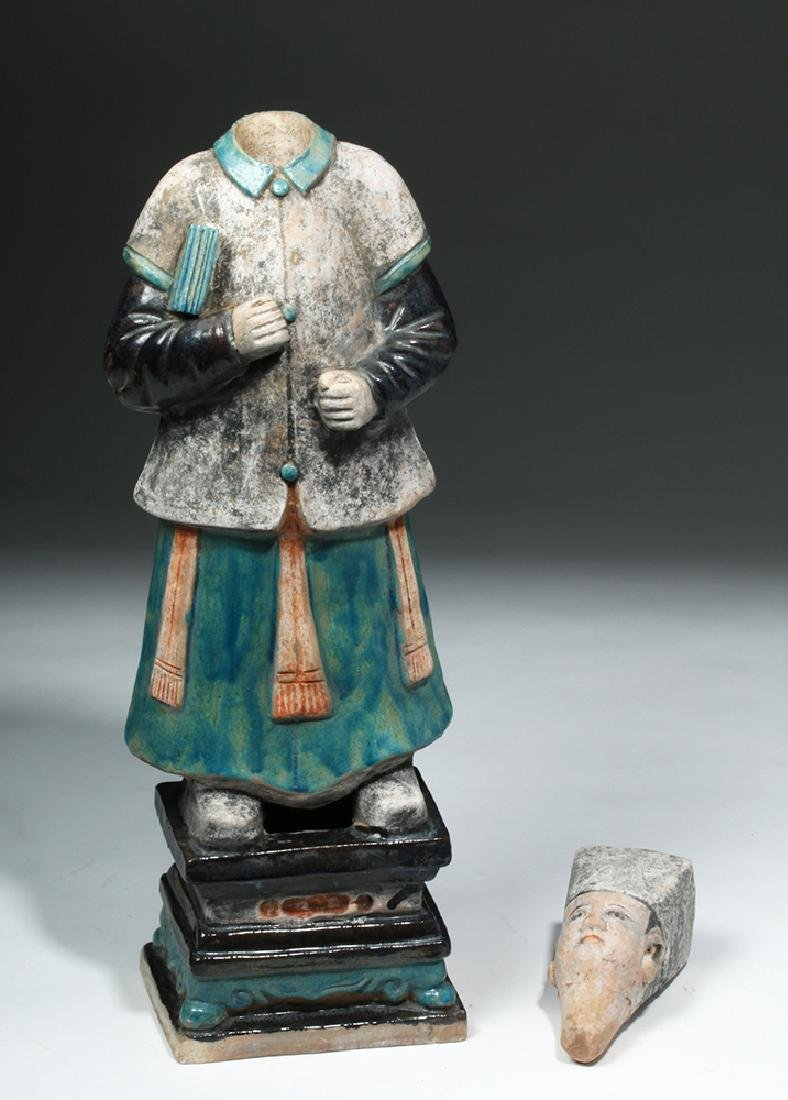 Large Chinese Ming Dynasty Scholar Figure - 6