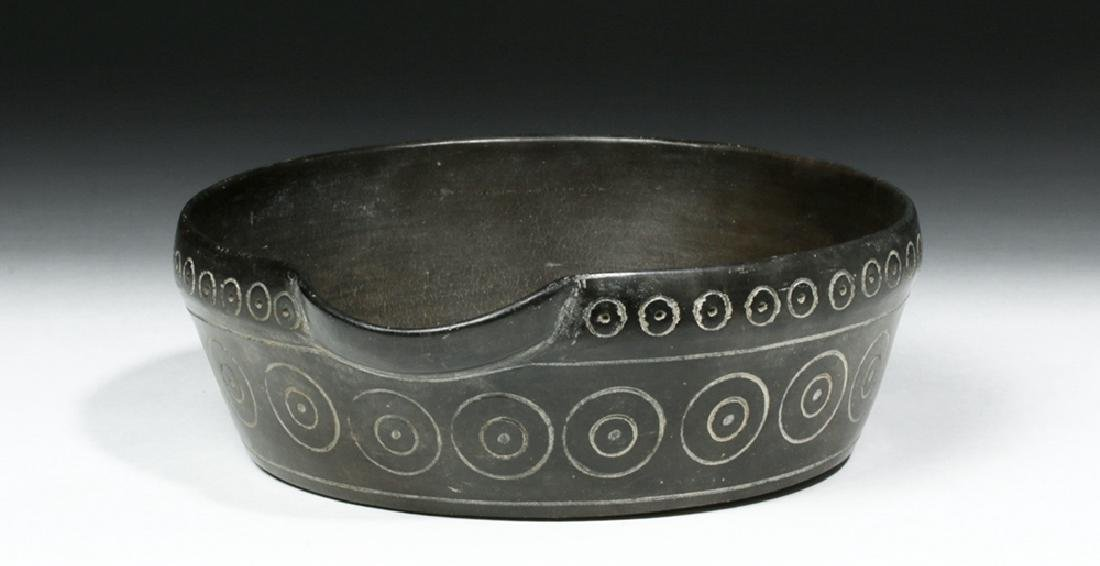 Chavin Blackware Pouring  Vessel w/ Incised Circles - 2