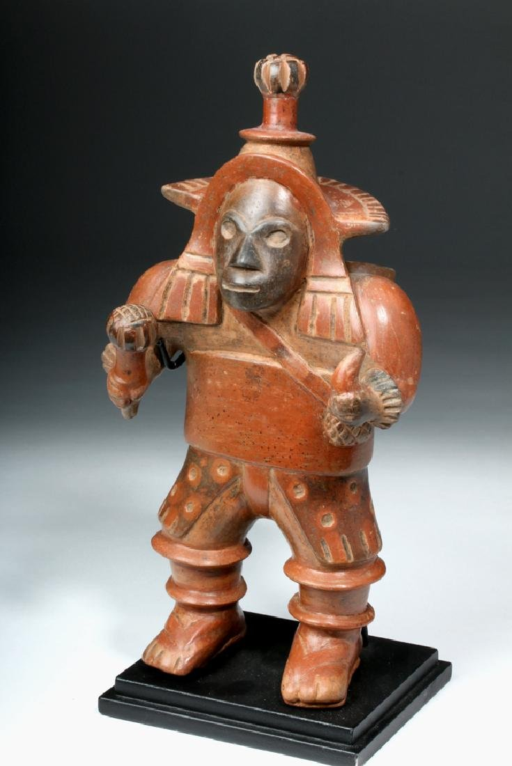 Important Colima Bichrome Pottery Dancer