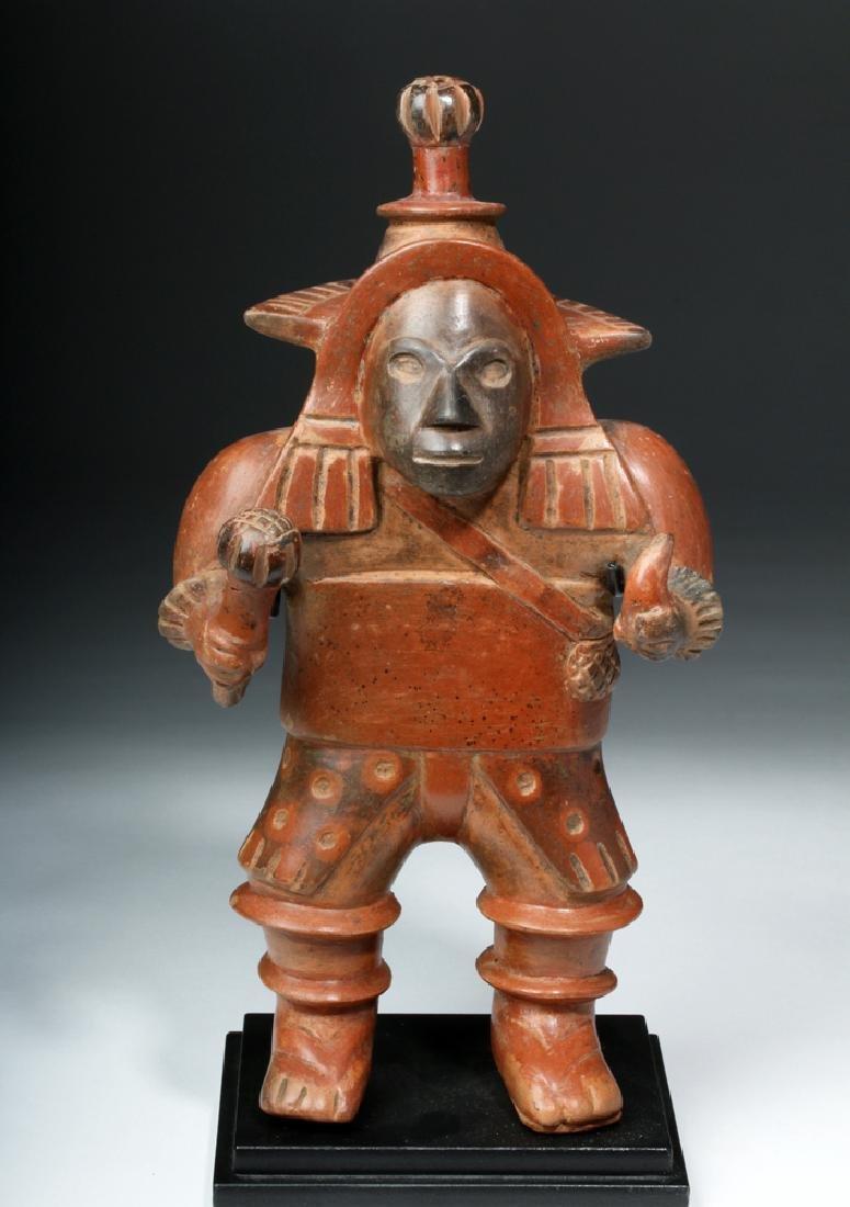 Important Colima Bichrome Pottery Dancer - 2
