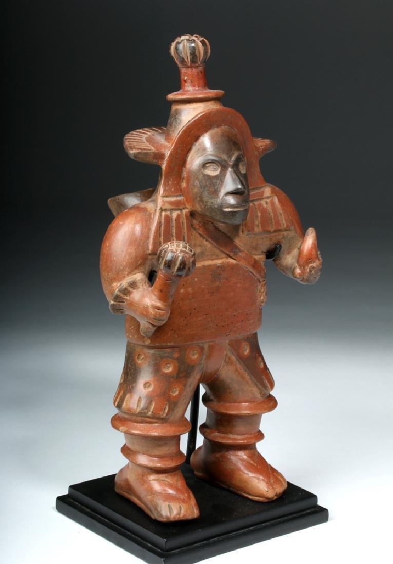 Important Colima Bichrome Pottery Dancer - 3