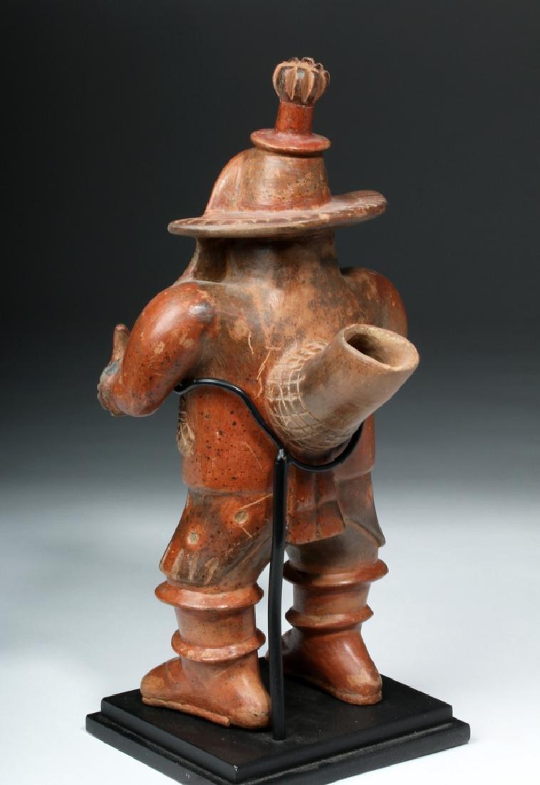 Important Colima Bichrome Pottery Dancer - 5