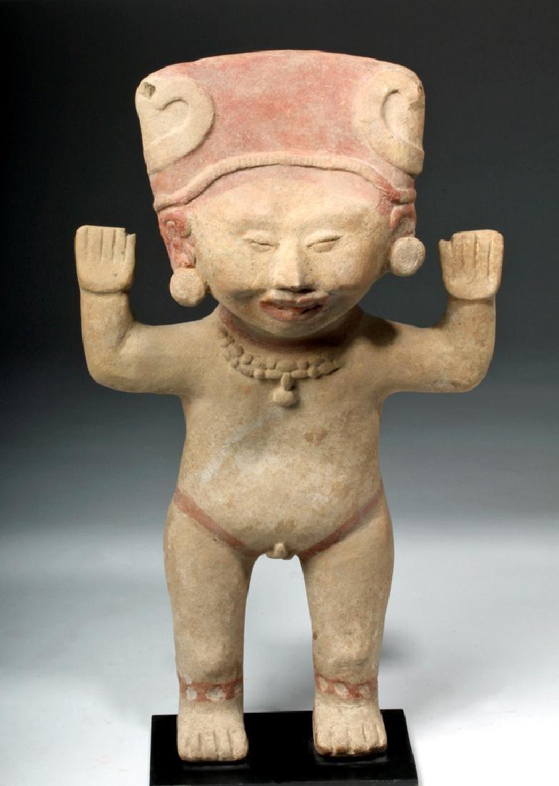 Tall & Delightful Veracruz Sonriente Pottery Figure