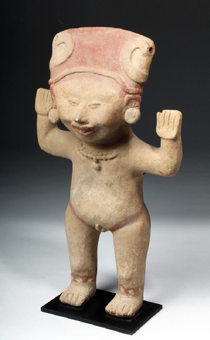 Tall & Delightful Veracruz Sonriente Pottery Figure - 2