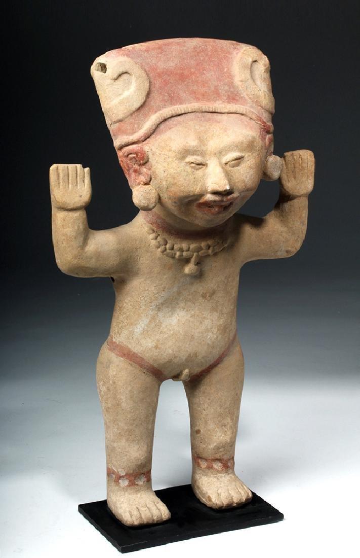 Tall & Delightful Veracruz Sonriente Pottery Figure - 5