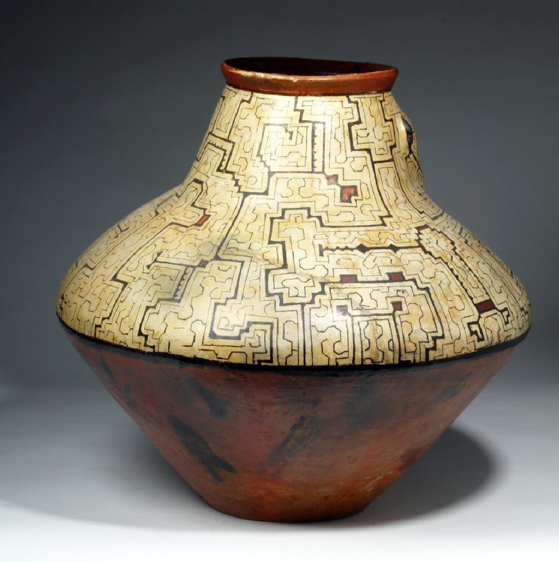 Huge Amazonian Shipibo Pottery Jar - 4