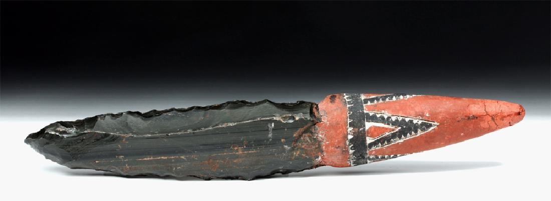 19th C. Rare Papua New Guinea Obsidian Blade Knife