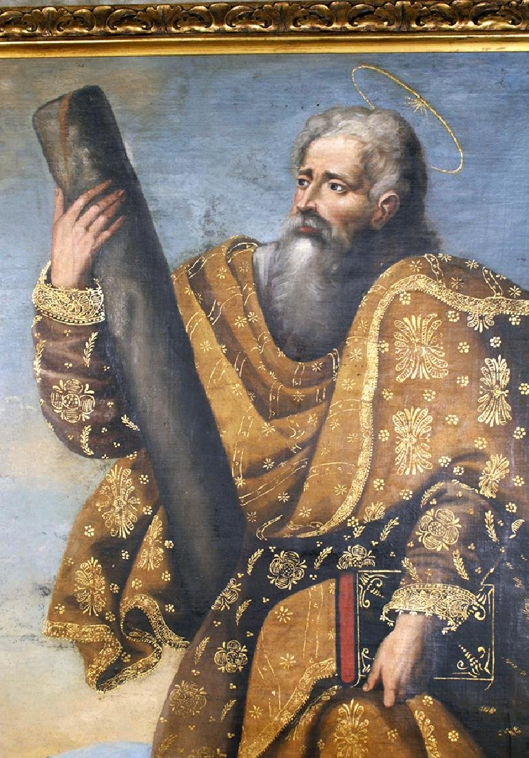 18th C. Peruvian Oil Painting Depicting St. Andrew - 2