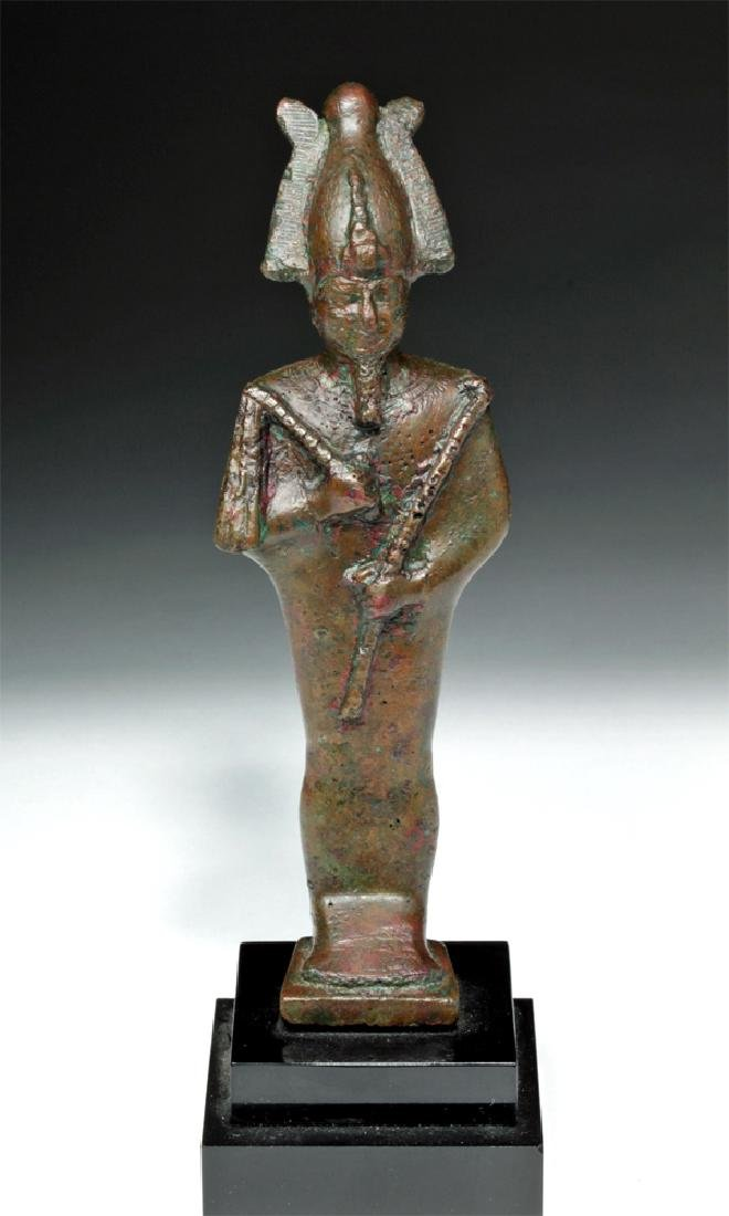 Egyptian Bronze Standing Osiris
