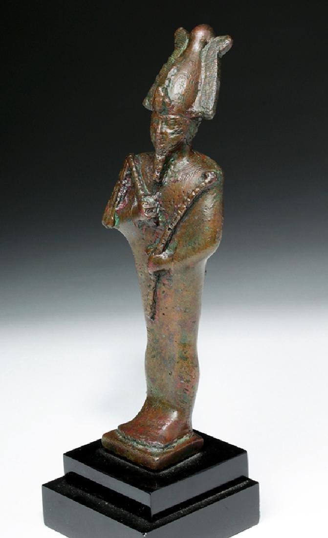 Egyptian Bronze Standing Osiris - 2