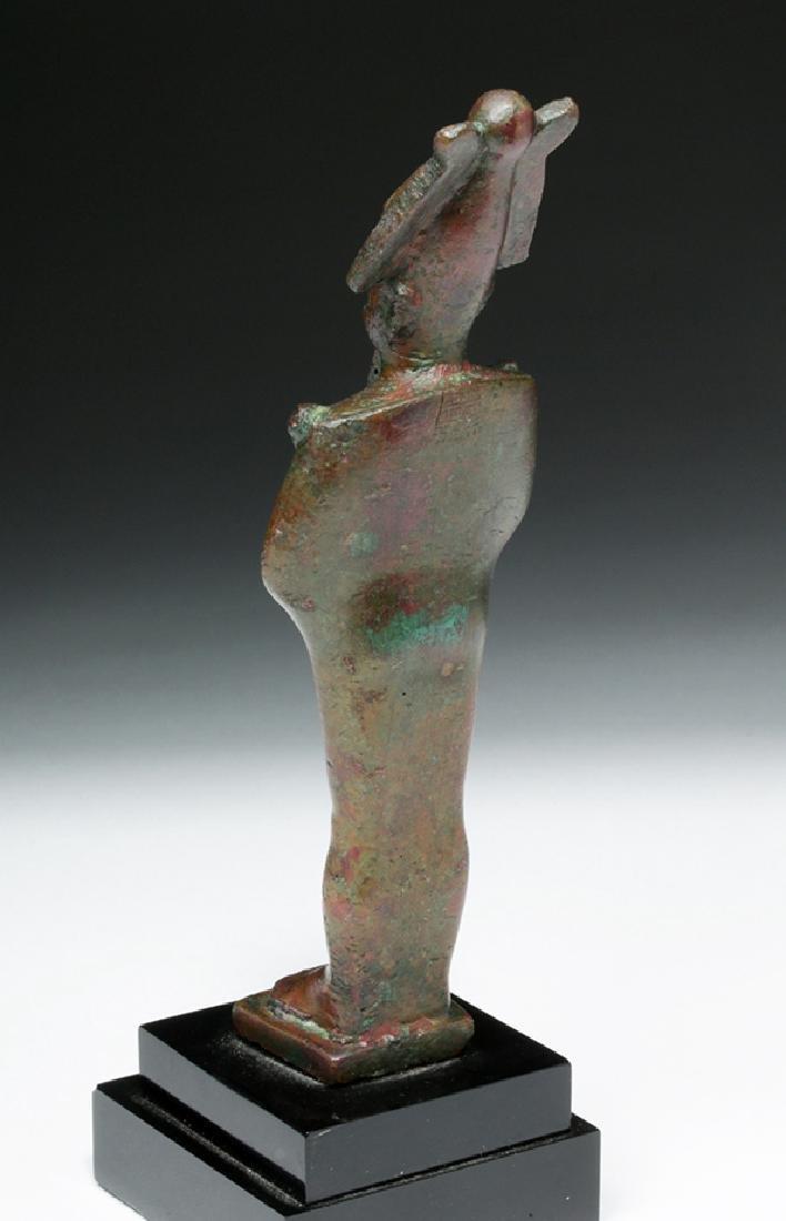 Egyptian Bronze Standing Osiris - 3