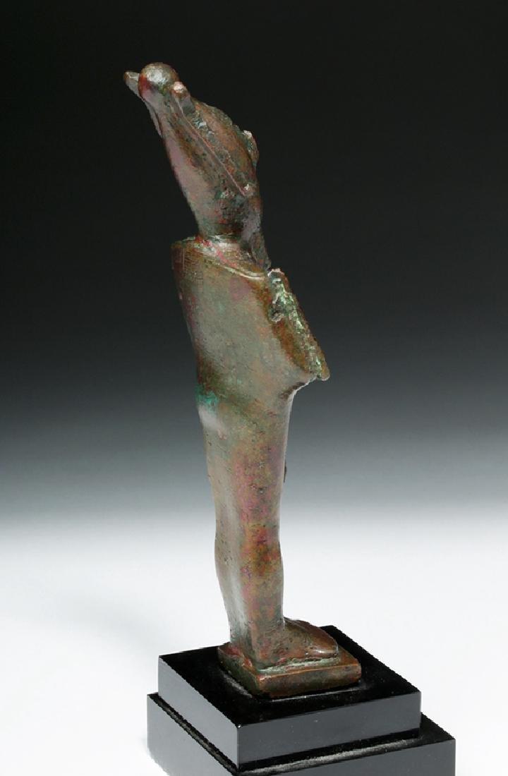 Egyptian Bronze Standing Osiris - 4