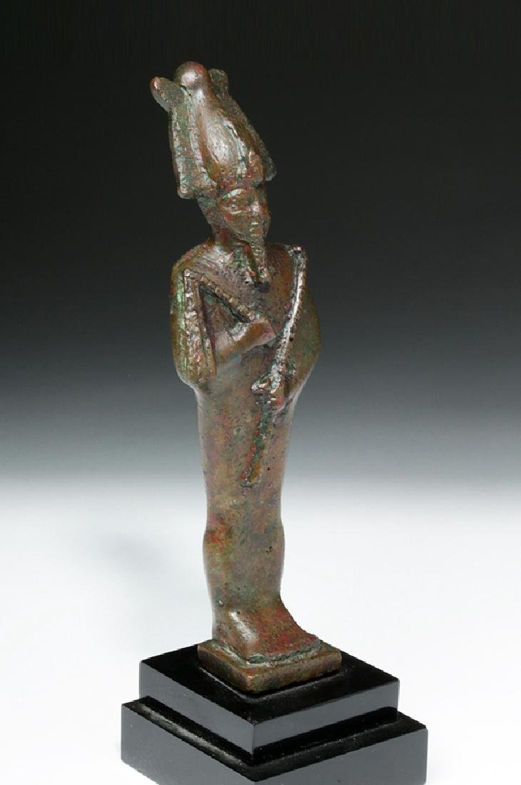 Egyptian Bronze Standing Osiris - 5