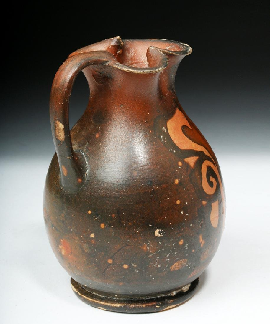 Amusing Greek Apulian Oinochoe with Satyr - 4