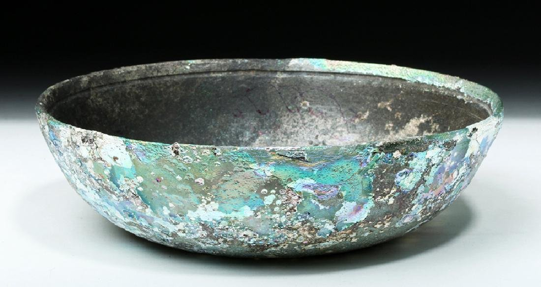 Hellenistic Greek Glass Bowl - Stunning Iridescence - 2