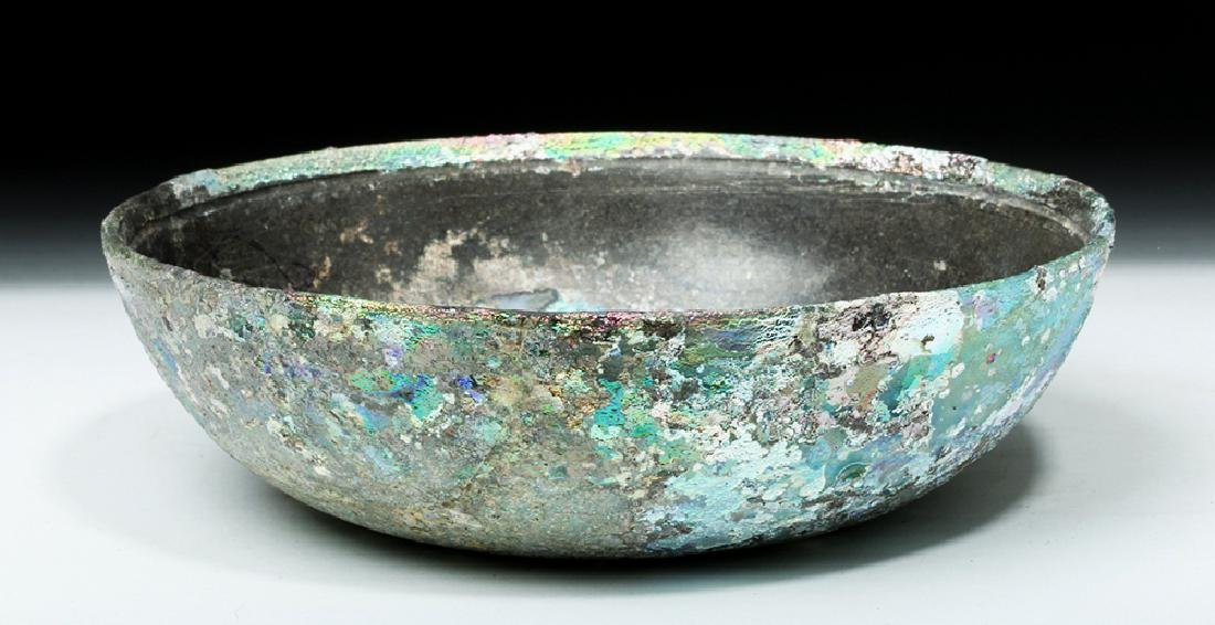 Hellenistic Greek Glass Bowl - Stunning Iridescence - 3