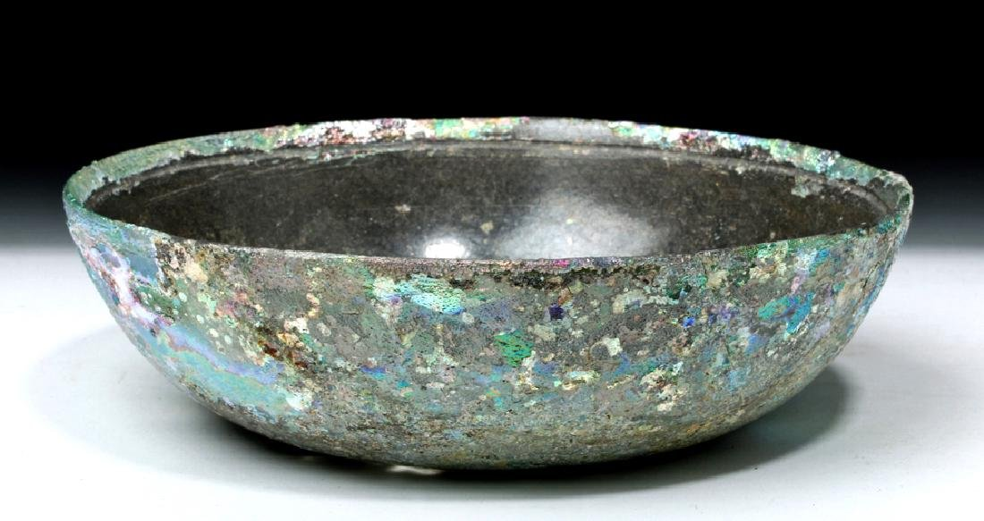 Hellenistic Greek Glass Bowl - Stunning Iridescence - 4