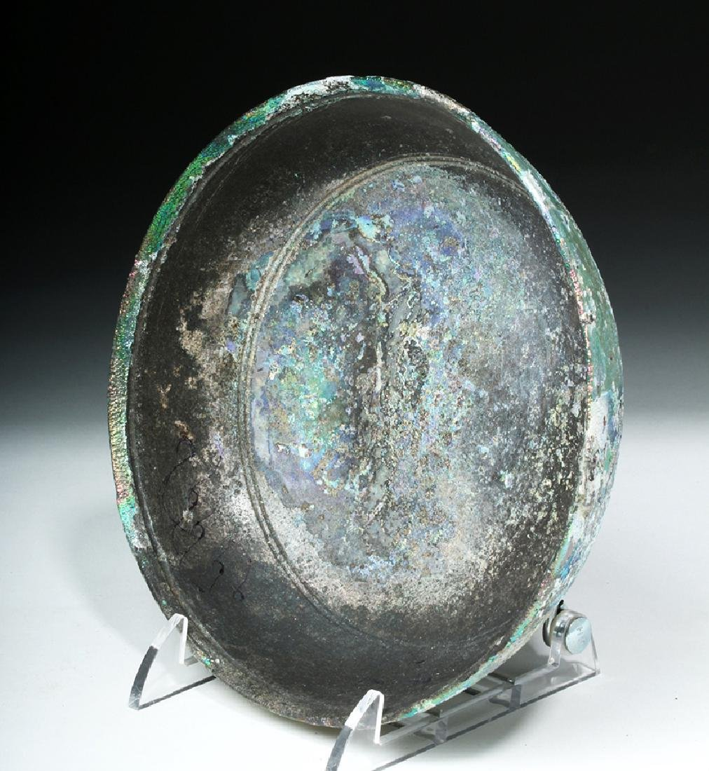 Hellenistic Greek Glass Bowl - Stunning Iridescence - 5