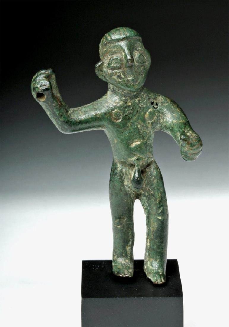 Choice Etruscan Bronze Statue of Warrior - 2