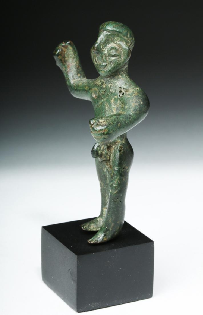 Choice Etruscan Bronze Statue of Warrior - 3