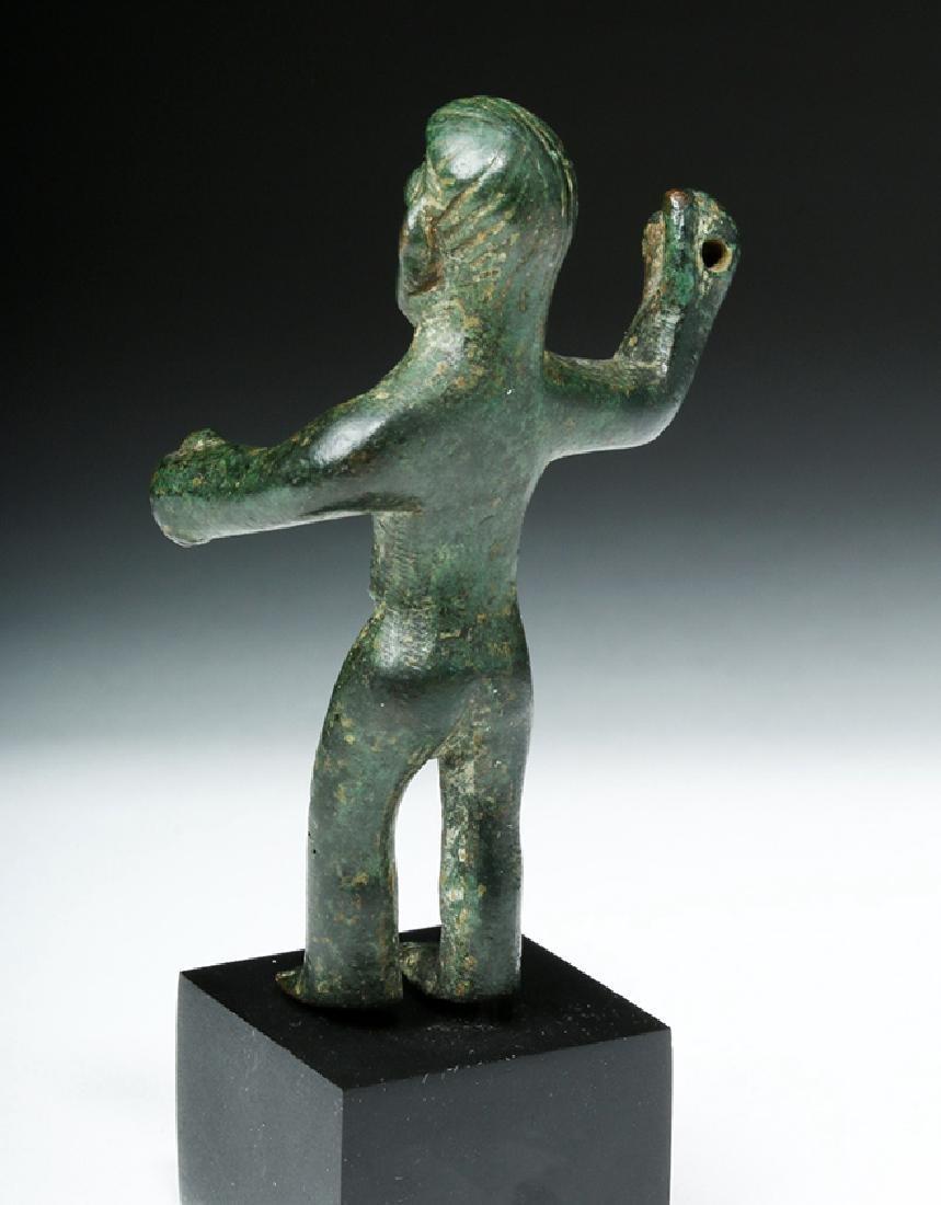 Choice Etruscan Bronze Statue of Warrior - 4