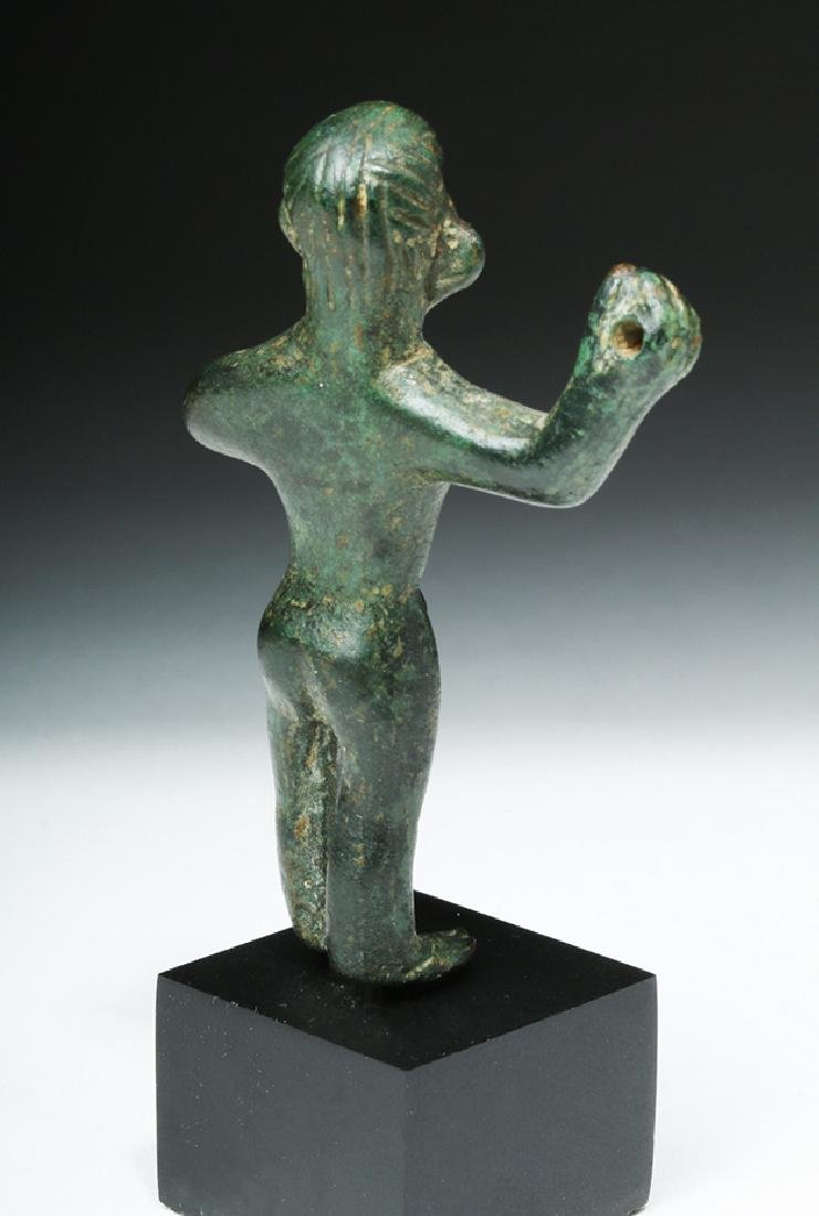 Choice Etruscan Bronze Statue of Warrior - 5