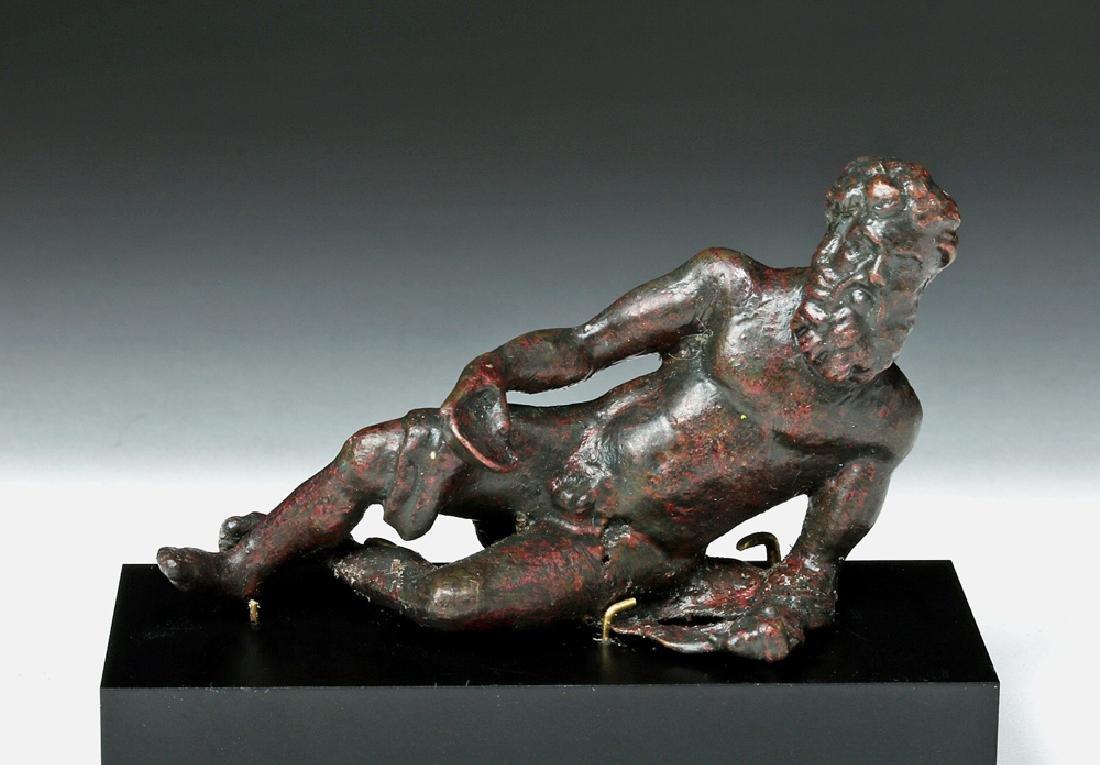 Gorgeous Roman Bronze Statue - Bacchus Reclining