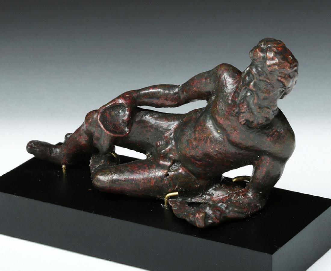 Gorgeous Roman Bronze Statue - Bacchus Reclining - 2
