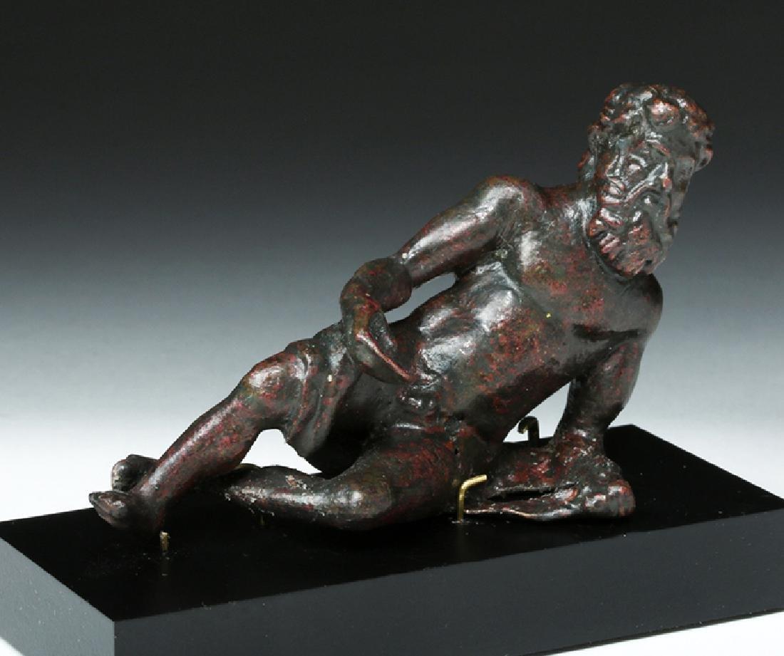 Gorgeous Roman Bronze Statue - Bacchus Reclining - 5