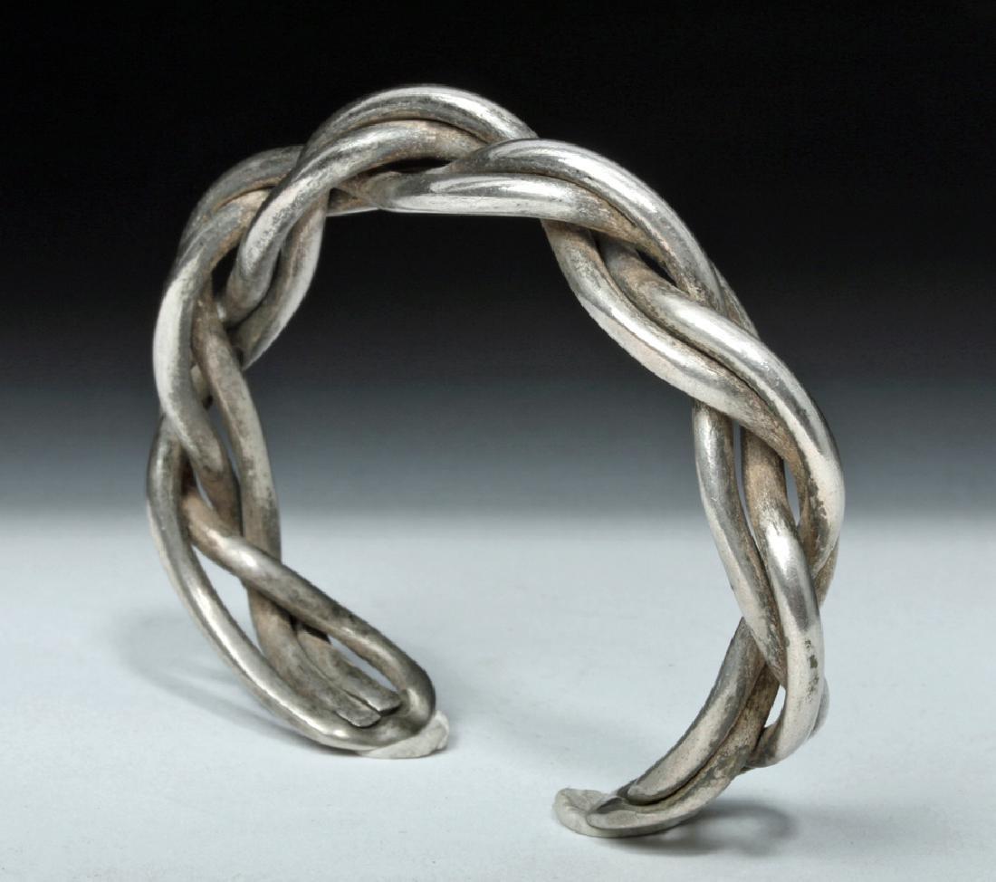Lovely Simple Braided Viking Silver Bracelet - 34 grams