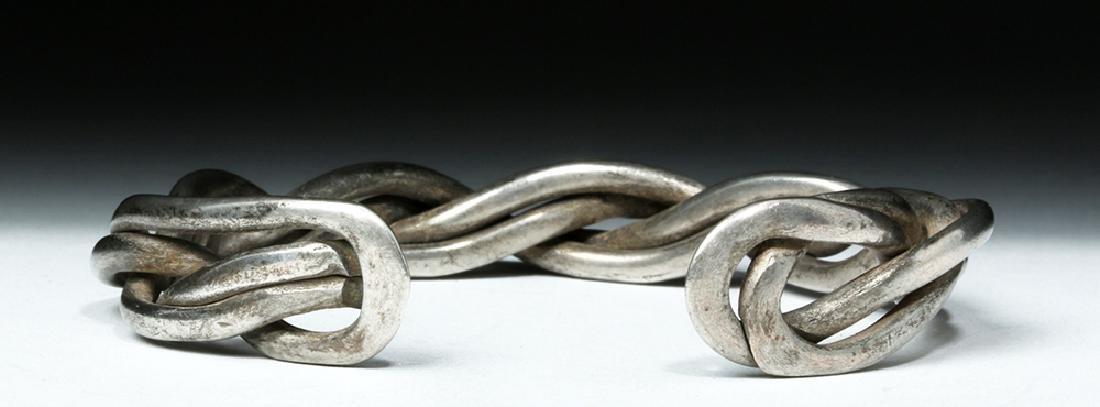 Lovely Simple Braided Viking Silver Bracelet - 34 grams - 5