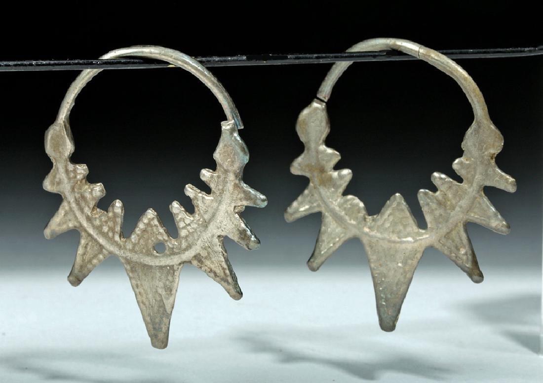 Superb Pair of Viking White Bronze Temple Rings