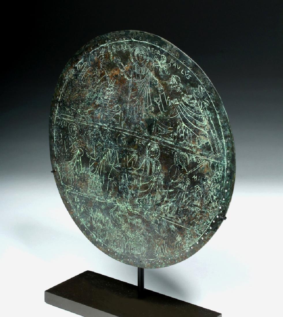Rare Byzantine Bronze Religious Plaque - St. Paul - 2