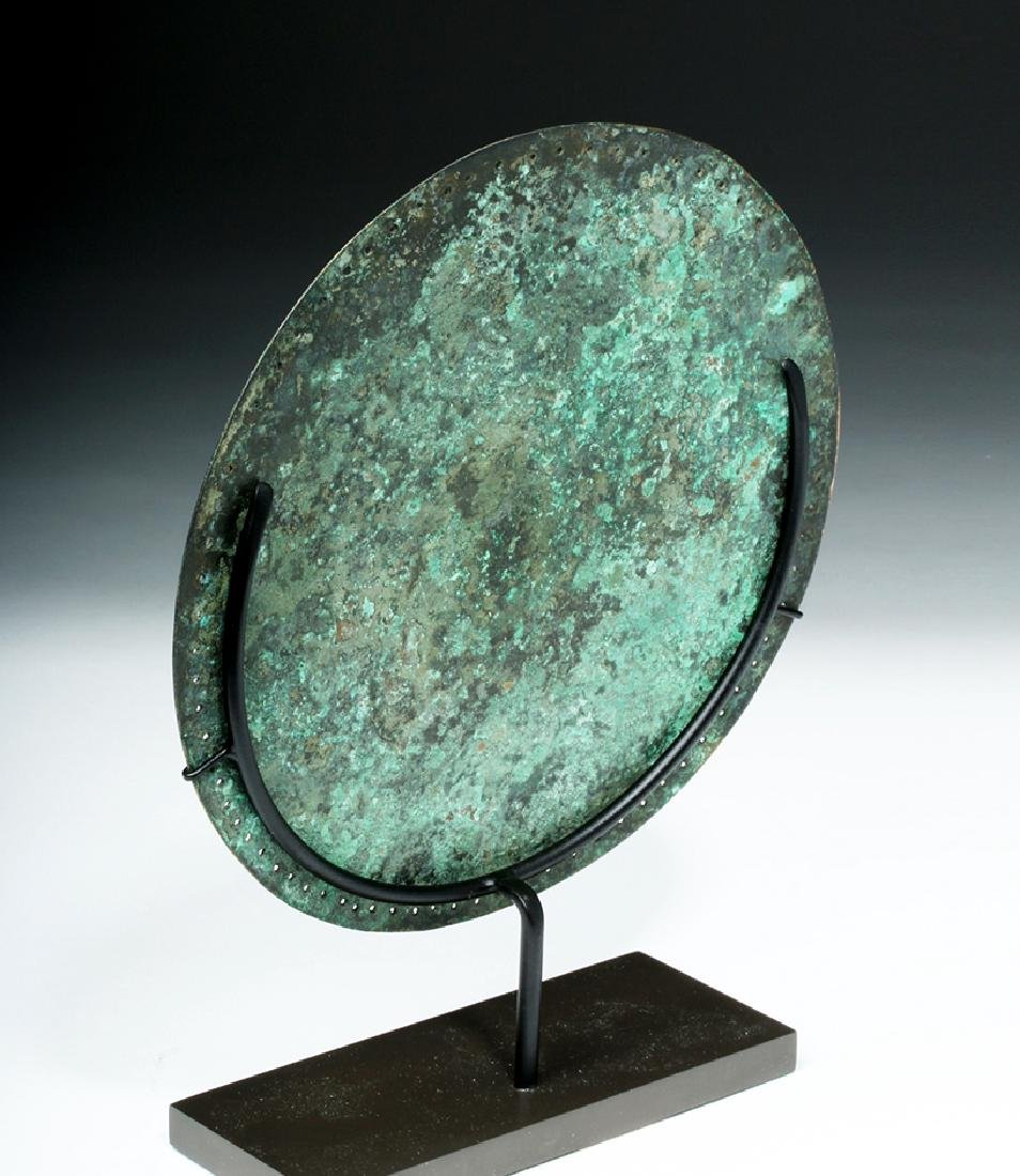 Rare Byzantine Bronze Religious Plaque - St. Paul - 3