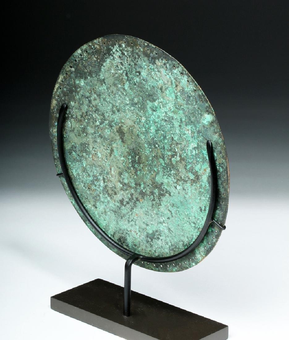 Rare Byzantine Bronze Religious Plaque - St. Paul - 4