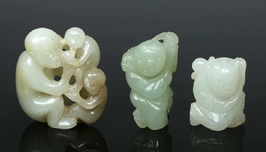Group of Ten Chinese Qing Jade Carvings - 3