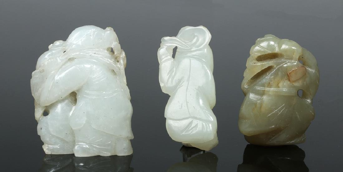Group of Ten Chinese Qing Jade Carvings - 6