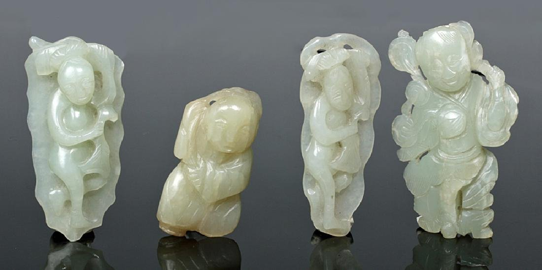 Group of Ten Chinese Qing Jade Carvings - 7