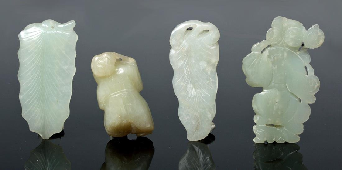 Group of Ten Chinese Qing Jade Carvings - 8