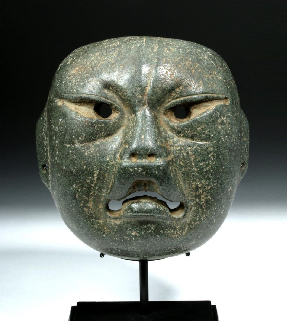 Olmec Were-Jaguar Serpentine Mask w/ Stoetzer Report