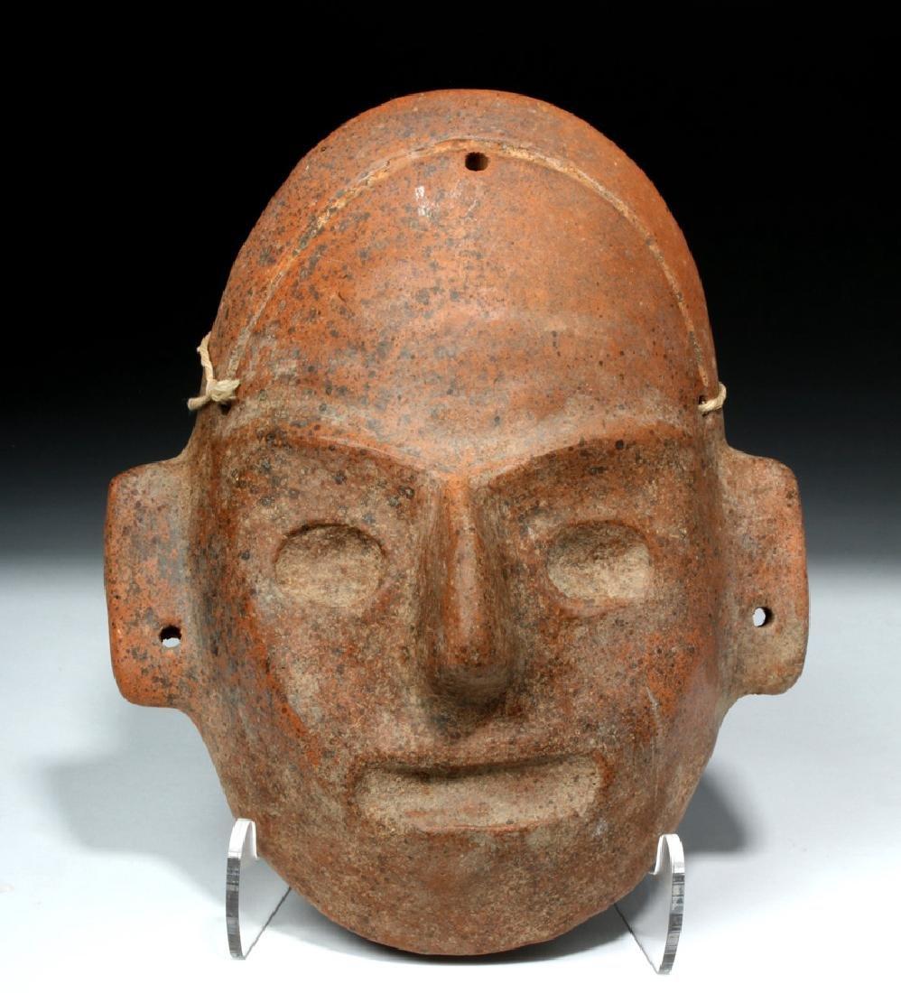 Expressive Colima Terracotta Mask